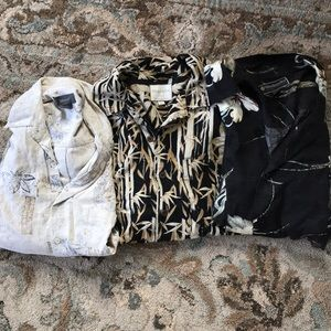 Three silk vacation shirts